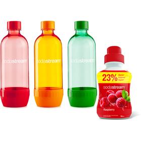 Predajná sada Fľaša TRIPACK 1l OGR+MALINA 750 ML SADA