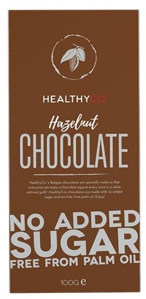 HealthyCO Čokoláda mliečna oriešková 100g