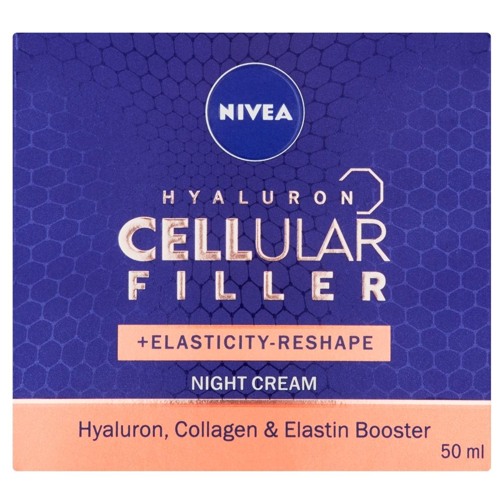 Nivea Remodelačný nočný krém Hyaluron Cellular Filler, 50ml