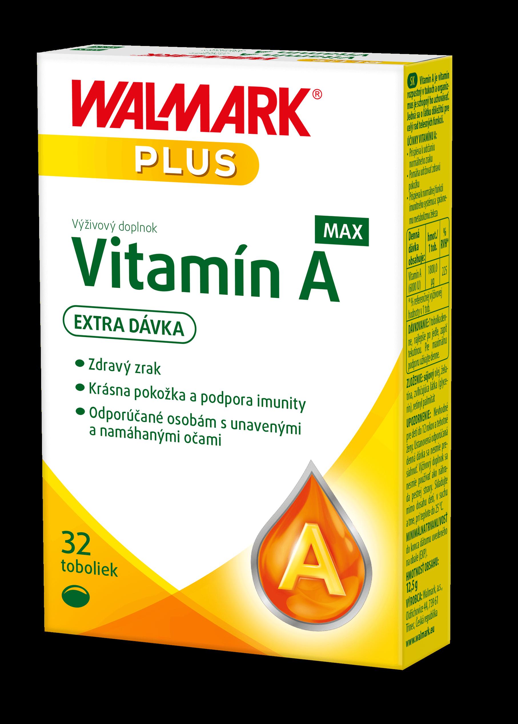 Walmark Vitamín A MAX 32 tabliet