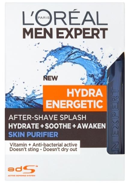 L'Oréal Paris Men Expert Hydra Energetic Skin Purifier voda po holení 100ml