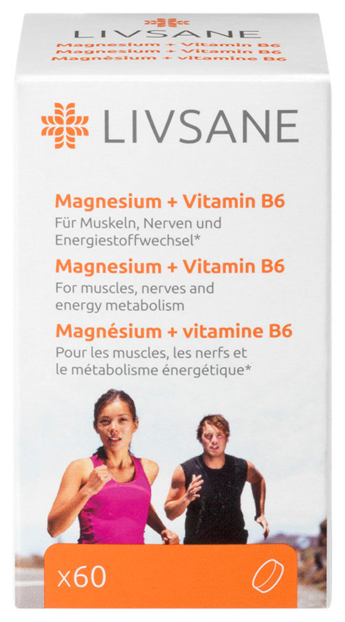 LIVSANE Magnézium + Vitamín B6 60tbl
