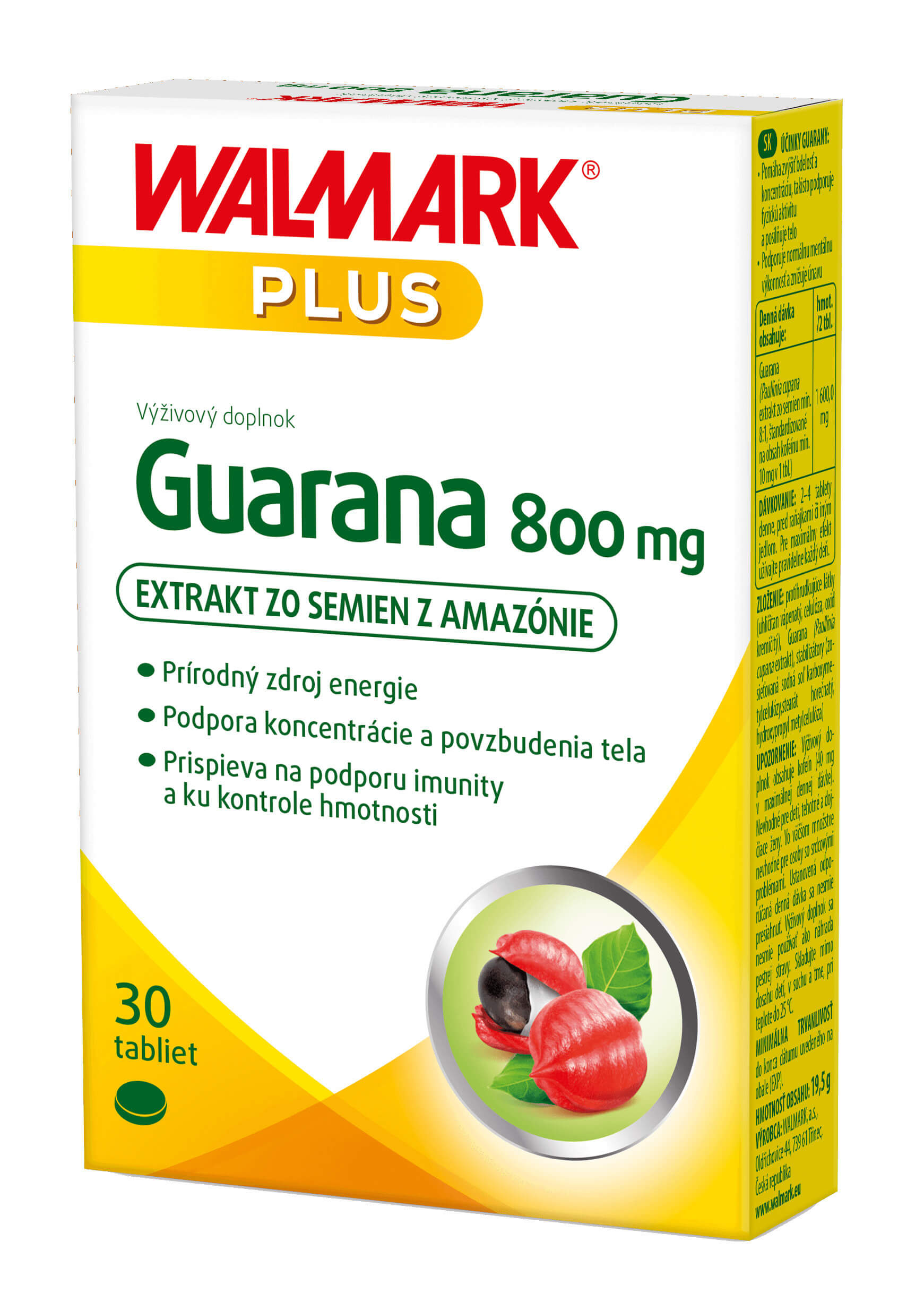 Walmark Guarana 800mg 30 tabliet