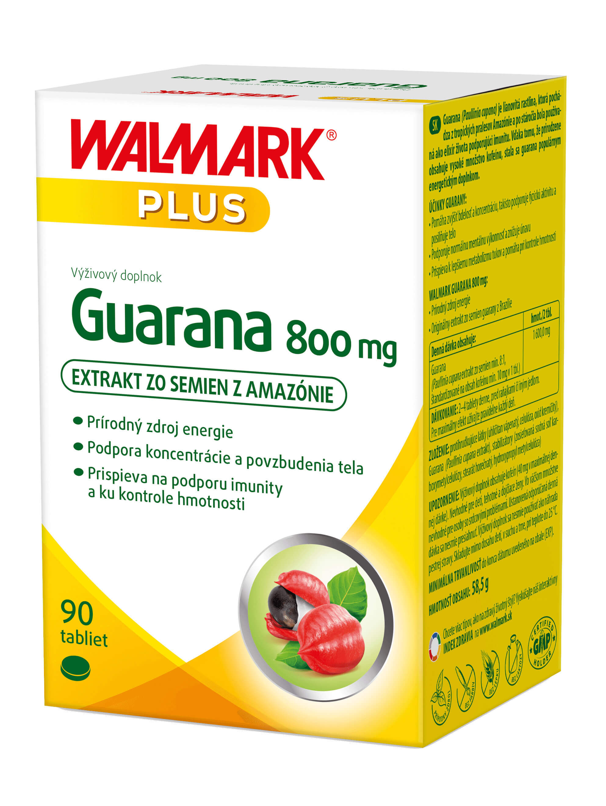 Walmark Guarana 800mg 90 tabliet