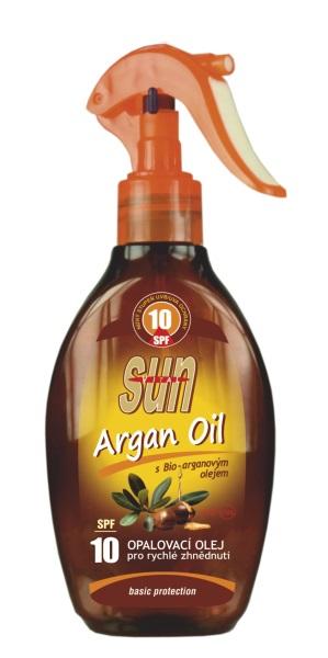 Vivaco Opaľovací olej s arganovým olejom SPF10 200ml