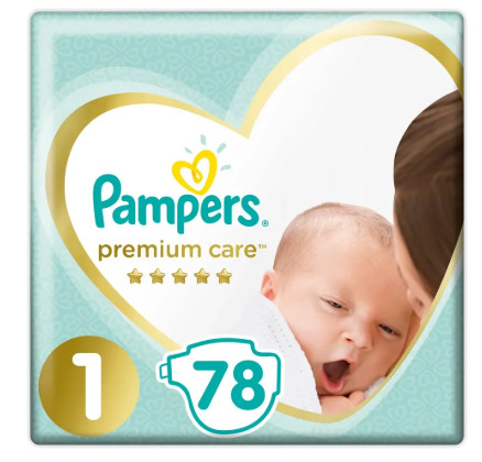 Pampers Premium Care S1 78ks, 2-5kg