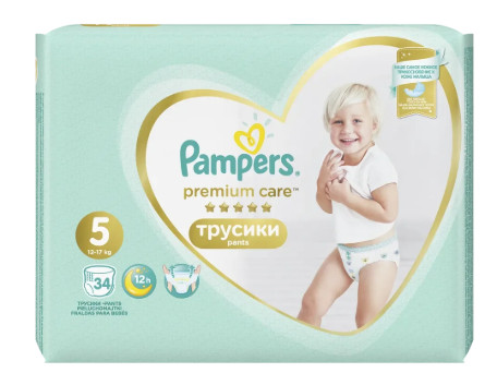 Pampers Premium Care Pants S5 34ks, 12-17kg