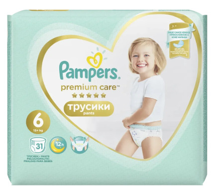 Pampers Premium Care Pants S6 31ks, 15+kg