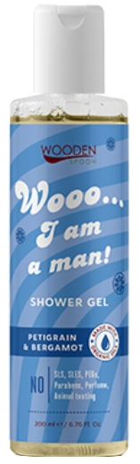 Sprchový gél: I am a man WoodenSpoon 200ml