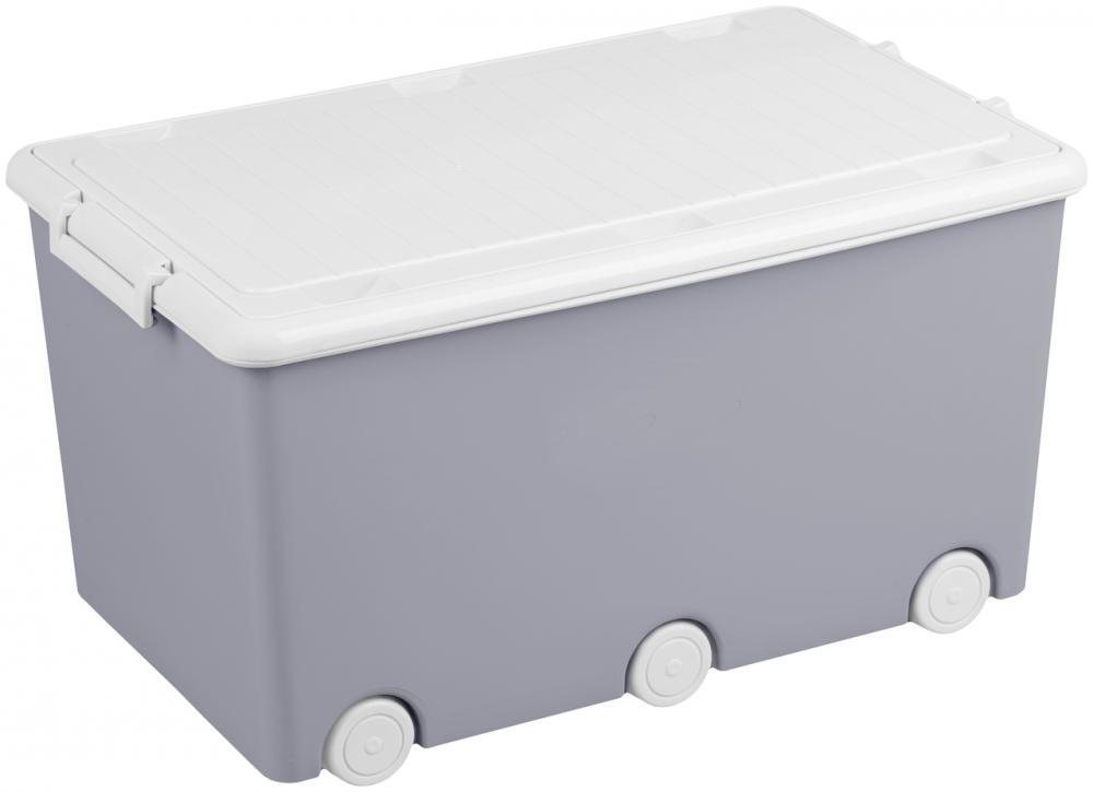 TEGA BABY Box na hračky Sova, šedý