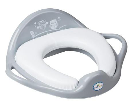 TEGA BABY redukcia na WC mäkká Sovička šedá