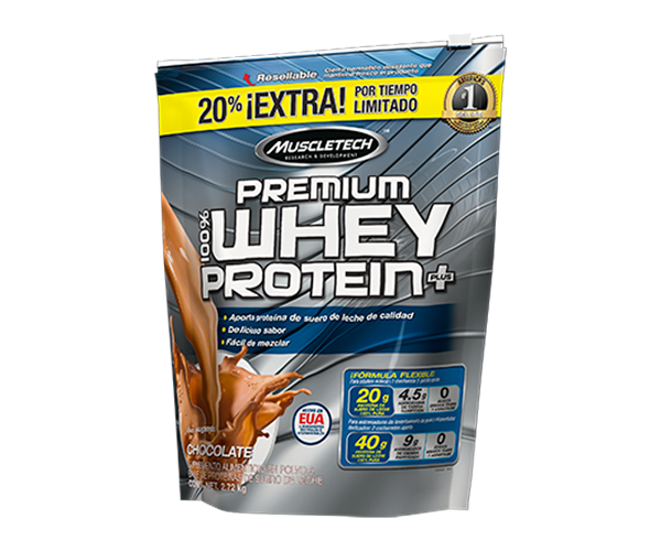 MUSCLETECH 100 Premium Whey Protein Plus 2720g deluxe chocolate