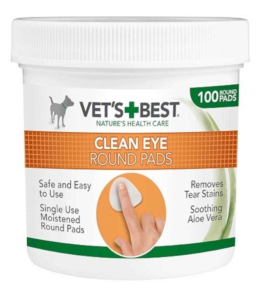 VET´S BEST Clean Eye Round Pads čistiaca utierka na okolie oči pre psy 100ks