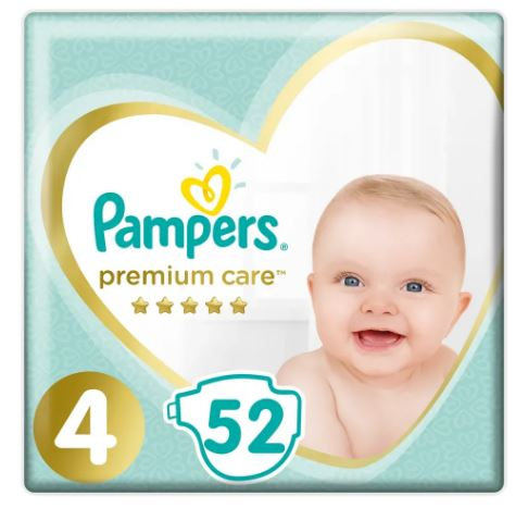 Pampers Premium Care S4 52ks, 9-14kg