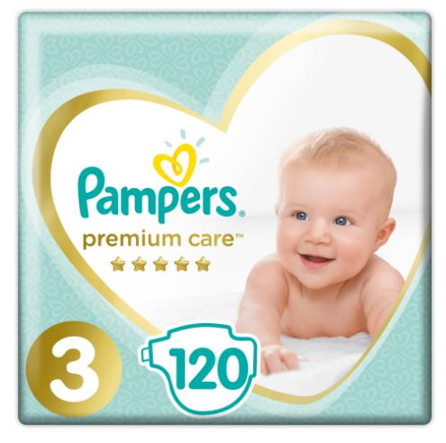 Pampers Premium Care 3 Midi (6-10kg) 120ks
