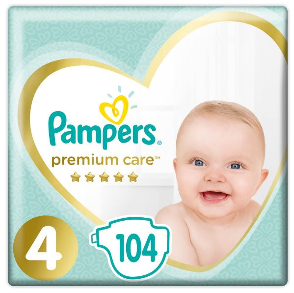 Pampers Premium Care 4 Maxi (9-14kg) 104ks