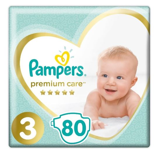 Pampers Premium Care S3 80ks, 6-10kg