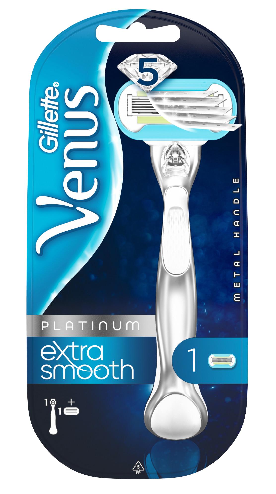 Venus Platinum Extra smooth Strojček + 1 náhradná hlavica