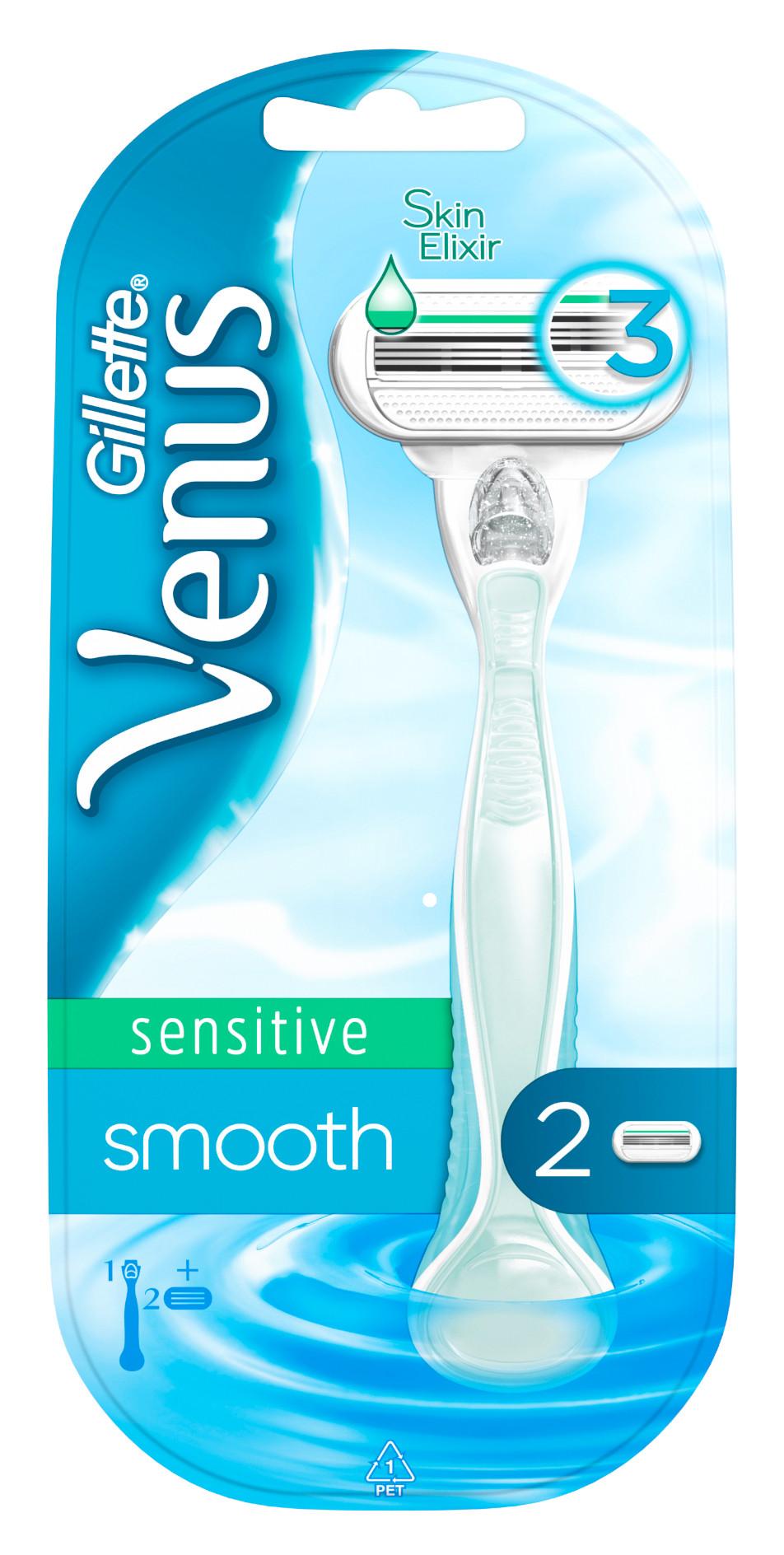 Venus Sensitive Smooth Strojček + 2 náhradné hlavice