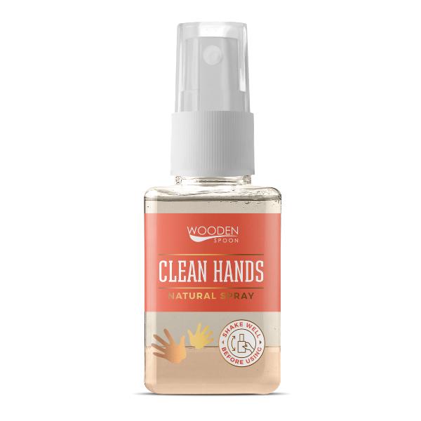 WoodenSpoon Prírodný antibakteriálny čistiaci sprej na ruky 50ml