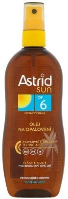 Astrid sun Olej na opaľovanie OF6 sprej 200ml
