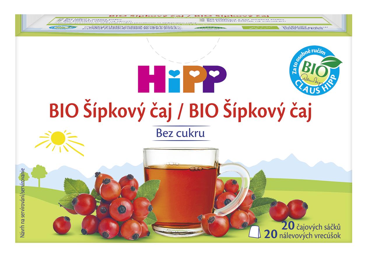 HiPP BIO Šípkový čaj nálevové vrecúška 20x2g