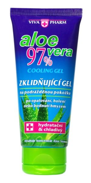 VIVAPHARM Aloe vera chladivý gél 97% po opaľovaní v tube 100ml