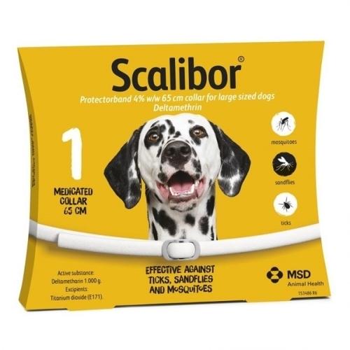 SCALIBOR Protectorband obojok 65cm 4% w/w pre veľké psy 1ks