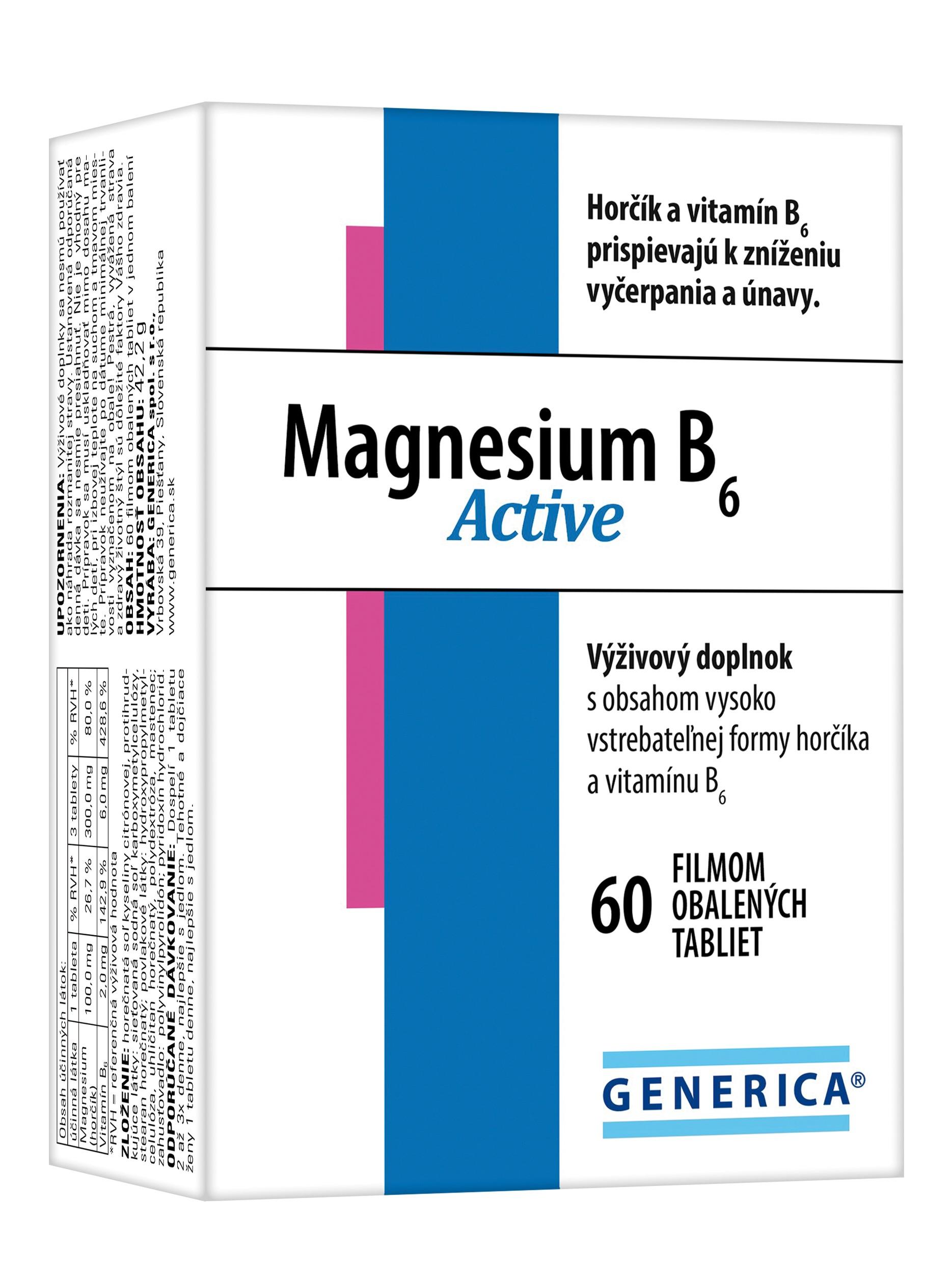 GENERICA Magnesium B6 Active 60tbl