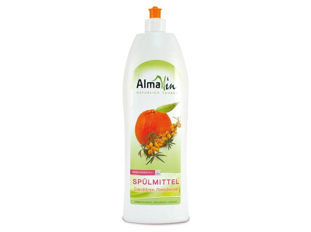 AlmaWin Tekutý prostriedok na riad Bio rakytník - Bio mandarínka 1l