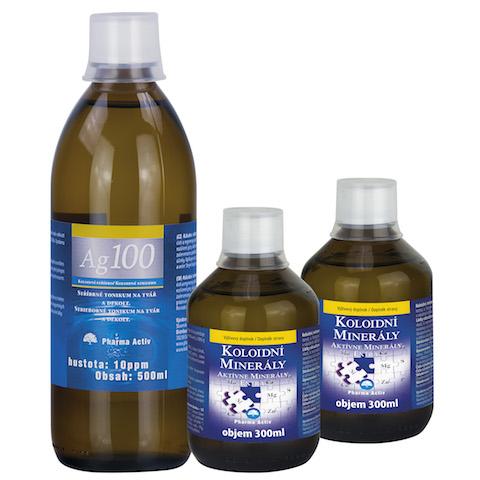 Pharma Activ Aktívne minerály extra AKCIA 2x300ml + Koloidné striebro Ag100 10ppm 500ml set