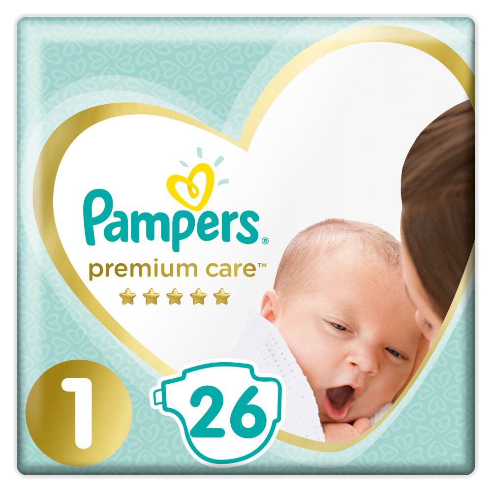 Pampers Premium Care S1 26ks, 2-5kg