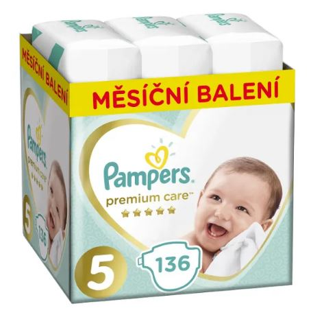 Pampers Premium Care S5 136ks, 11-16kg