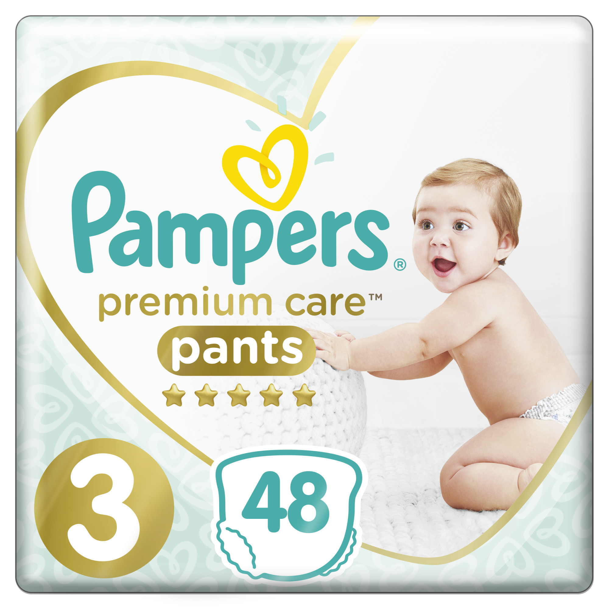 Pampers Premium Care Pants S3 48ks, 6-11kg