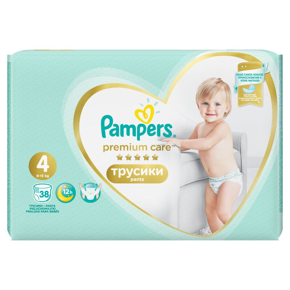 Pampers Premium Care Pants S4 38ks, 9-15kg
