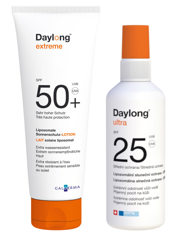 Daylong extreme SPF50 lócio 200ml  Daylong ultra SPF25 spray 150ml