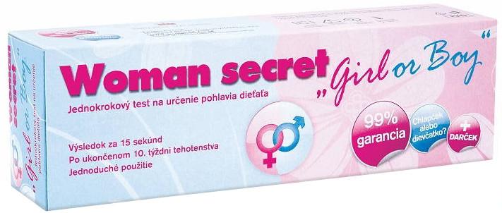 Woman secret test na určenie pohlavia dieťaťa