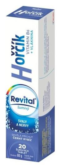 Revital Magnézium + Vitamín B6 s príchuťou čiernej ríbezle 20 šumivých tabliet
