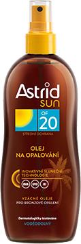 Astrid sun Olej na opaľovanie OF20 sprej 200ml
