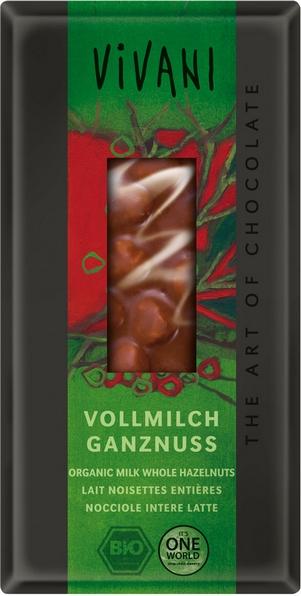 Vivani Bio Mliečna čokoláda s lieskovými orieškami 100g
