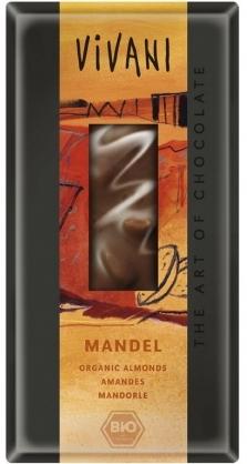 Vivani Bio Mliečna čokoláda s mandľami 100g