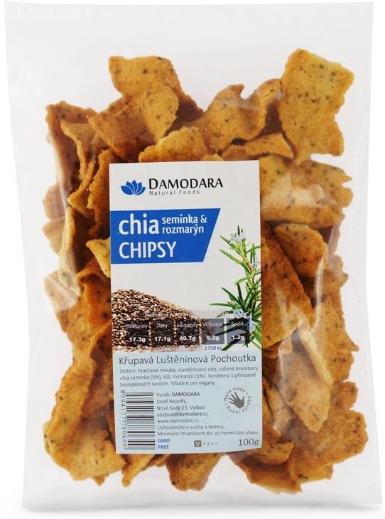 Damodara Chia chipsy semienka a rozmarín 100g