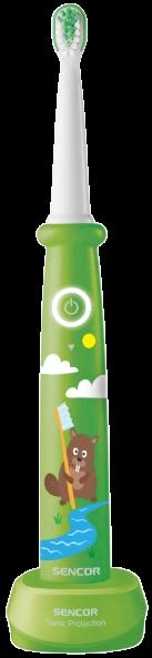 Detská elektrická sonická zubná kefka Sencor SOC 0912GR