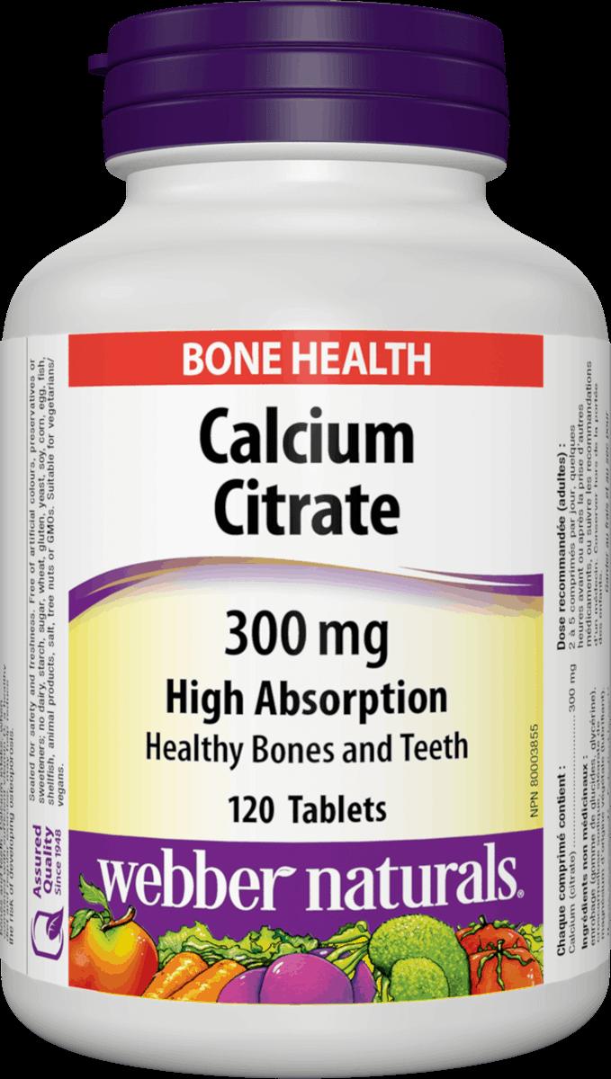 Webber Naturals Calcium Citrát lepšia vstrebateľnosť 300 mg 120tbl
