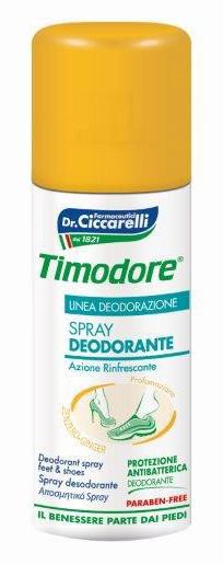 Timodore antibakteriálny sprej na nohy so zázvorom 150ml