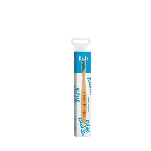 NORDICS Detská bambusová kefka na zuby s Modrými štetinami