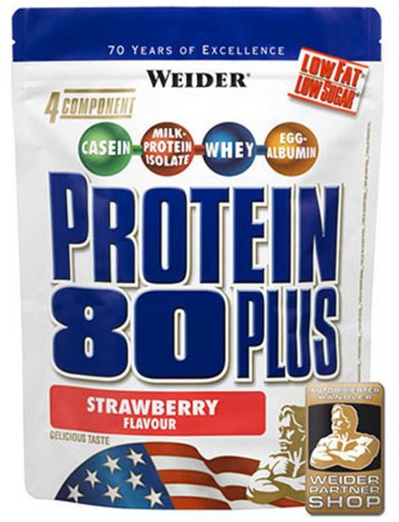 Weider Protein 80 Plus, 2000g - jahoda