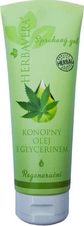 Herbavera Sprchový gel Konopný olej s glycerínom 250ml