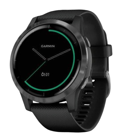 Garmin monitorovací náramok a hodinky vívoactive4 Gray/Black Band