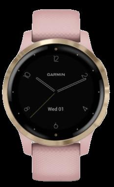 Garmin monitorovací náramok a hodinky vívoactive4S Dust Rose/Light Gold